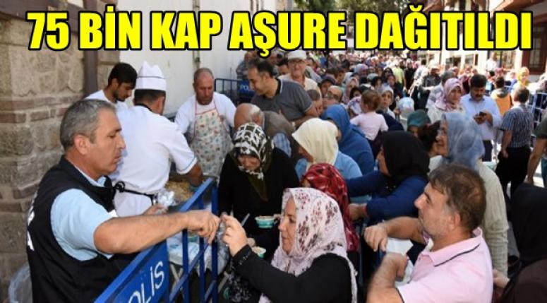 Afyonkarahisar'da birlerce kap aşure dağıtıldı !!