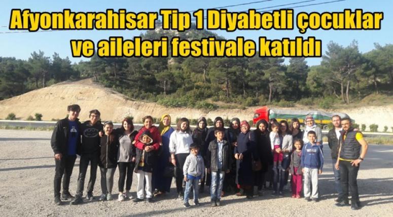Afyonkarahisar Tip 1 Diyabetli çocuklar ve aileleri festivale katıldı