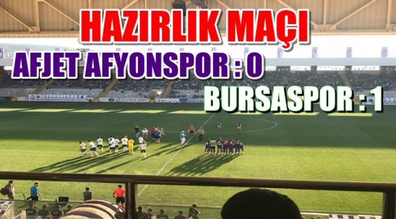 Hazırlık Karşılaşması - Afjet Afyonspor : 0 - 1 Bursaspor