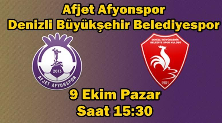 AFJET AFYONSPOR - DENİZLİ BÜYÜKŞEHİR BELEDİYESPOR