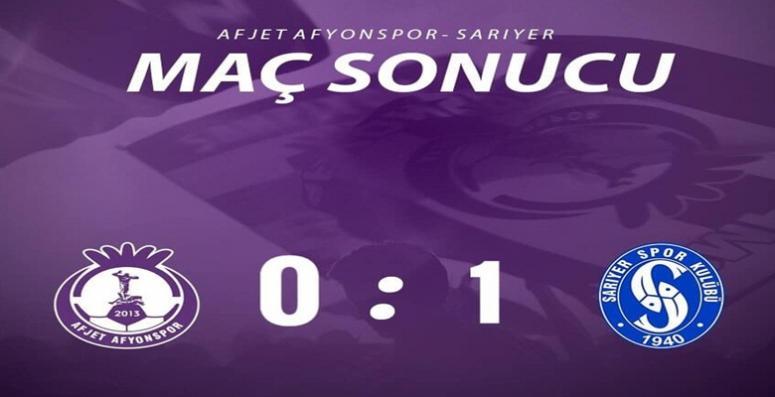 Afjet Afyonspor oynadı, Sarıyer kazandı !!