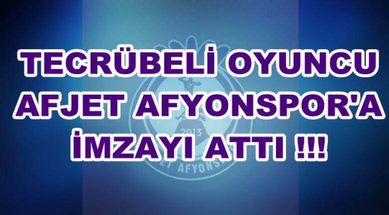 Sefer Sever Afjet Afyonspor'da !!!