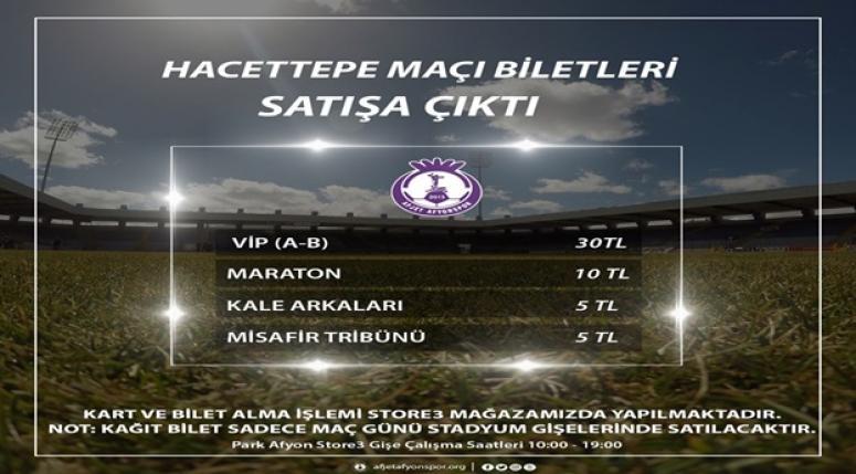 Afjet Afyonspor - Hacettepe Bilet Fiyatları !!