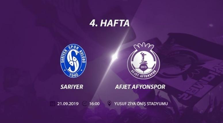 Afjet Afyonspor, Sarıyer'e konuk olacak !!
