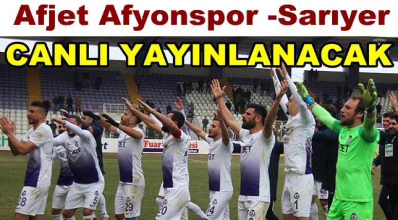 Afjet Afyonspor - Sarıyer maçı hangi kanalda? Saat kaçta?