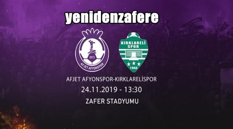 Afjet Afyonspor, Kırklarelispor takımını konuk edecek