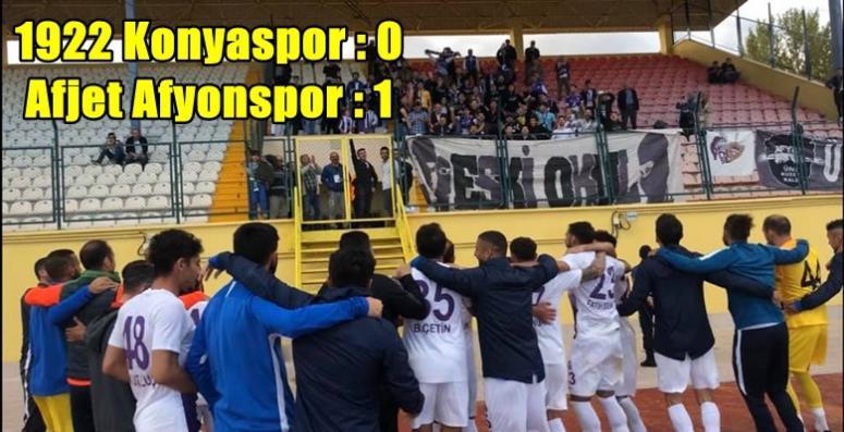 Afjet Afyonspor, 1922 Konyaspor'a ilk mağlubiyetini tattırdı !!