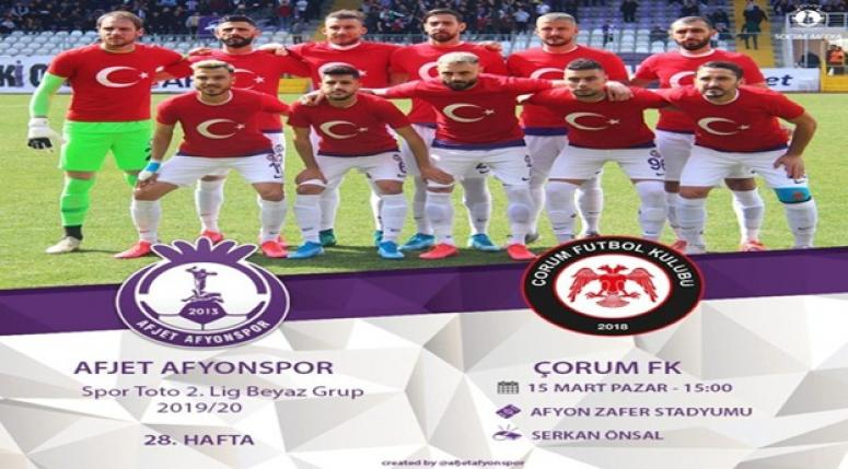 Afjet Afyonspor - Çorum FK maçı ne zaman ?