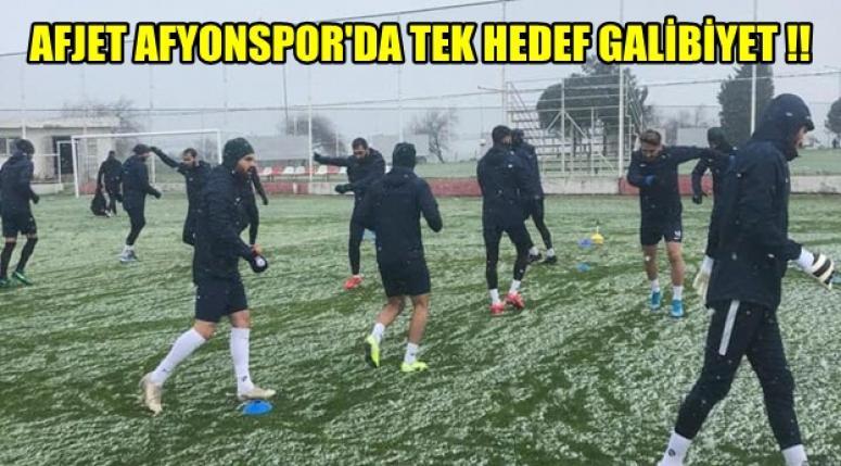 Afjet Afyonspor'da hedef galibiyet !!