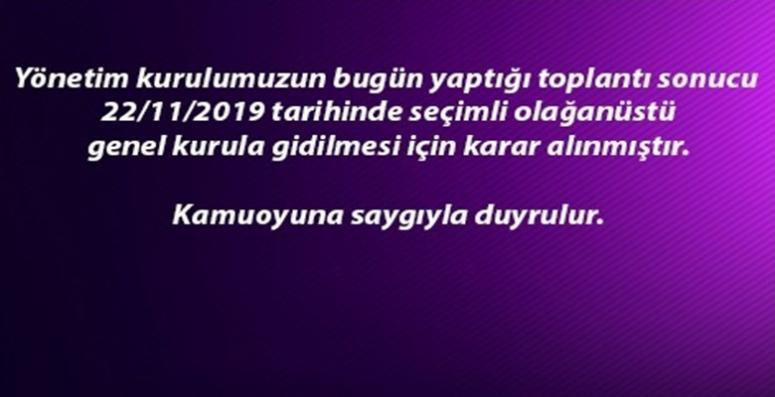Afjet Afyonspor Kulubü kongreye gidiyor