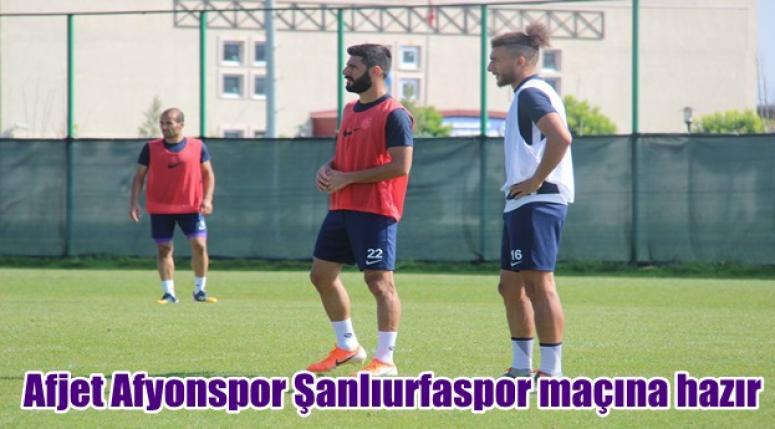Afjet Afyonspor Şanlıurfaspor maçına hazır !!