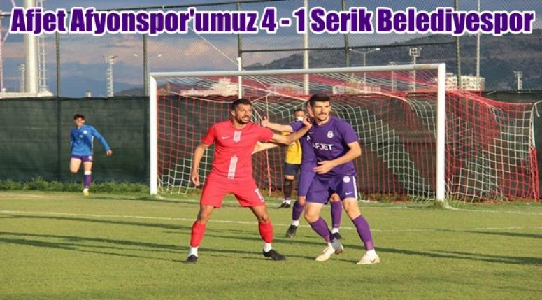 Afjet Afyonspor 4 - 1 Serik Belediyespor [ Hazırlık Karşılaşması ]