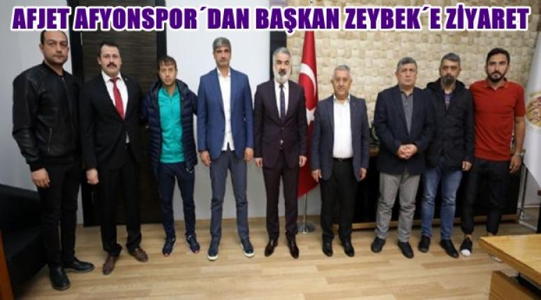 Afjet Afyonspor, Mehmet Zeybek'i ziyaret etti