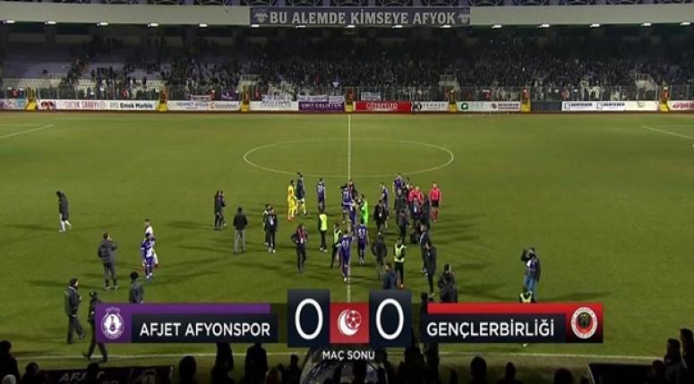 Afjet Afyonspor : 0 - 0 Gençlerbirliği