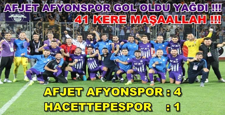 Afjet Afyonspor gol oldu yağdı !! Afjet Afyonspor 4 – 1 Hacettepespor