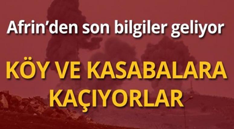 AFRİN'DEN SON BİLGİLER !! KÖY VE KASABALARA KAÇIYORLAR !!!