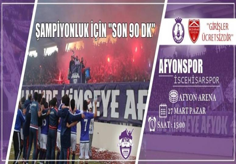 Afjet Afyonspor, Şampiyonluk için son virajda !!!