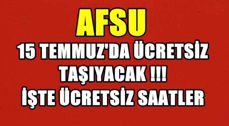 AFSU'YA TEŞEKKÜRLER !!! ÜCRETSİZ TAŞIYACAK