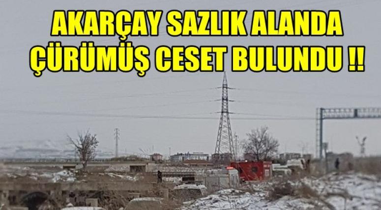 Afyon Akarçay, Sazlık alanda çürümüş ceset bulundu !!