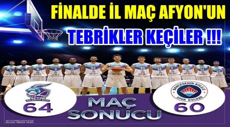 Afyon Belediye Spor 64-60 Bahçeşehir Koleji !!! İlk Maç Afyon'un