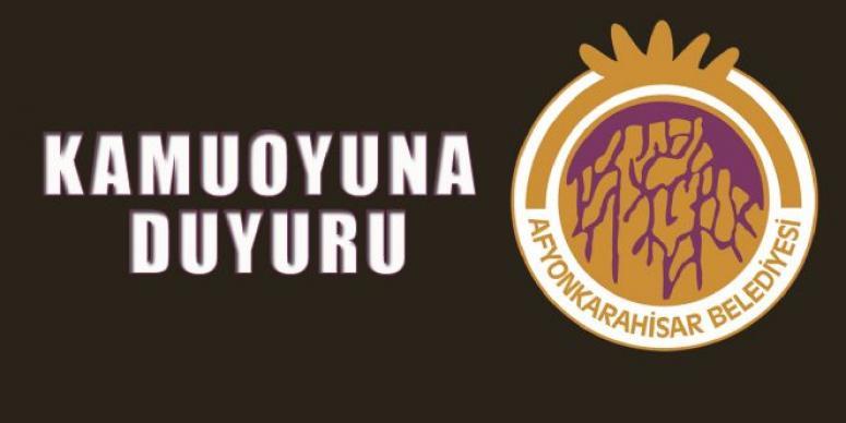 Afyon Belediyesi Açıkladı !!!