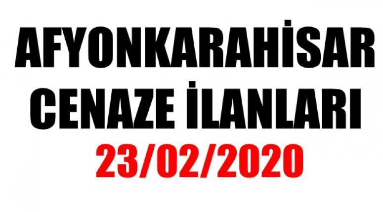Afyon Cenaze ilanları - 23/02/2020