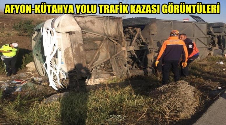 Afyon'da meydana gelen kazada AFAD görevini yaptı !!