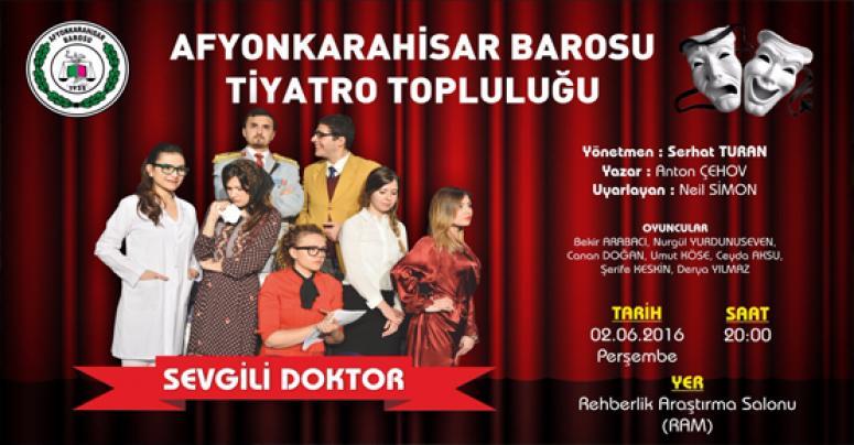 Afyon Barosu Tiyatro topluluğu gösteriye hazır