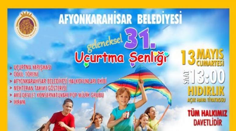 """Afyon'da Uçurtma şenliği heyecanı yarın gerçekleşecek """""""""""""""