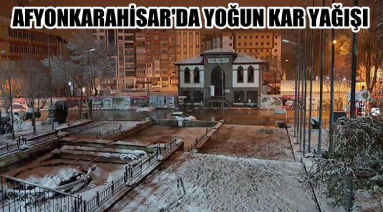 Afyonkarahisar'da Şiddetli Kar Yağışı devam ediyor !!