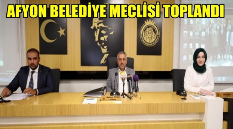 Afyon Belediye Meclisi toplandı !!