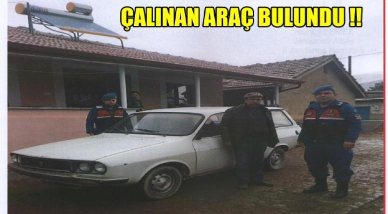 Afyon'da çalınan araç ve aracı çalan şahıs yakalandı !!