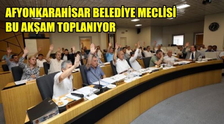 Afyon Belediye Meclisi bugün toplanacak !!