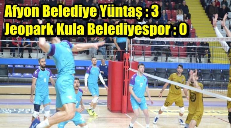 Afyon Belediye Yüntaş : 3 Jeopark Kula Belediyespor : 0
