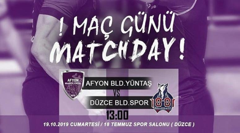 1881 Düzce Belediyesi - Afyon Belediye Yüntaş bugün oynanacak!!
