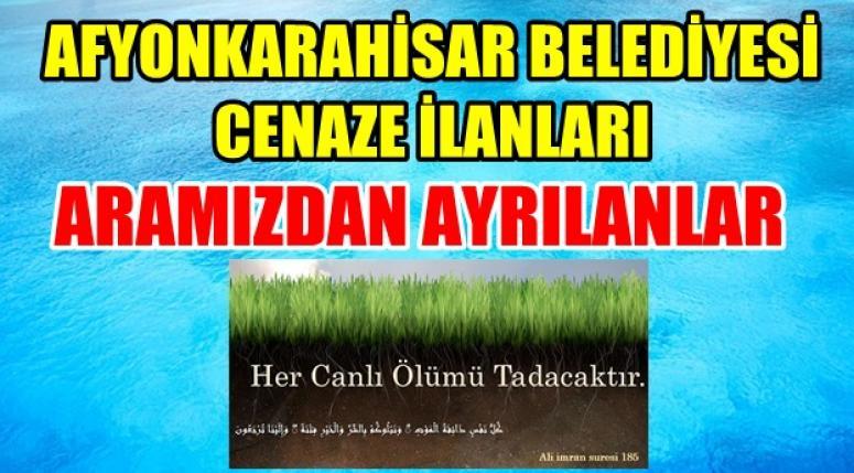 Afyonkarahisar Belediyesi Cenaze İlanları