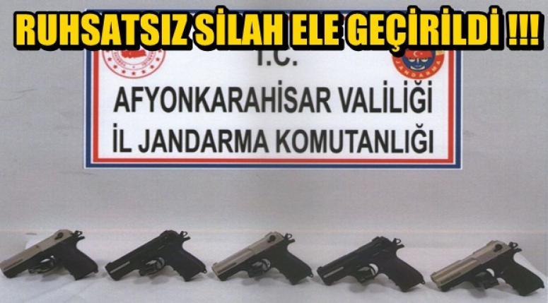 Afyon'da Ruhsatsız Silah ele geçirildi !!