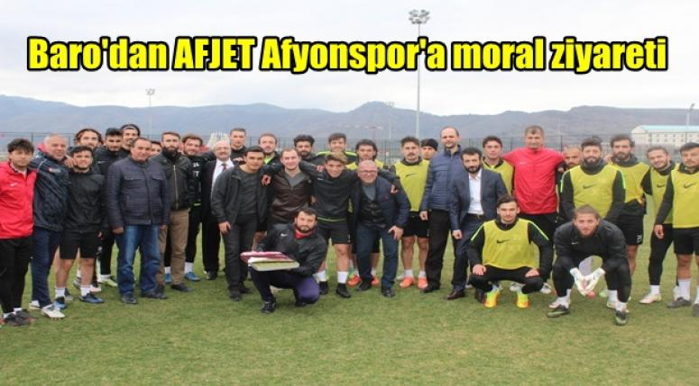 Afyon Barosun'dan AFJET Afyonspor'a moral ziyareti