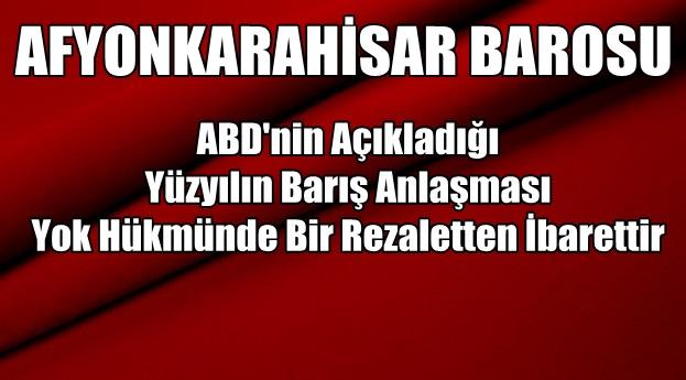 Afyonkarahisar Barosu açıklama yaptı !!