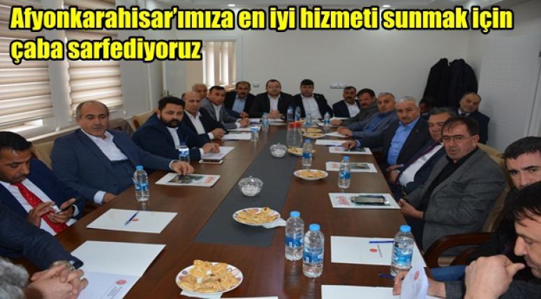 Mhp heyeti Döğer'de toplandı !!