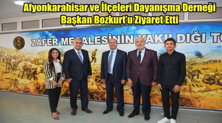 Afyonkarahisar ve İlçeleri Dayanışma Derneği Başkan Bozkurt'u Ziyaret Etti