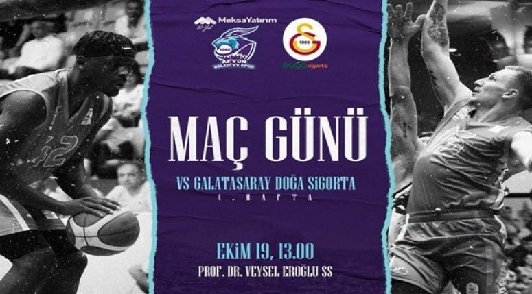 Afyon Belediyespor, Galatasaray'ı bugün konuk ediyor !!
