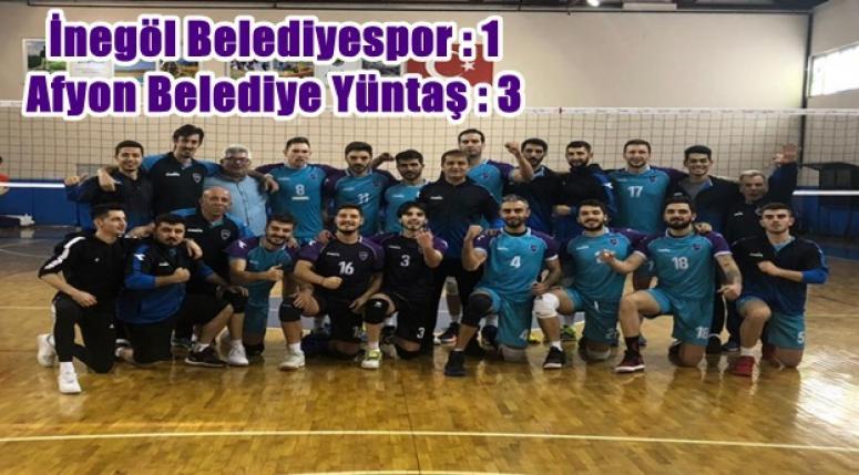 Afyon Belediye Yüntaş, İnegöl'ü deplasmanda yendi 1 - 3