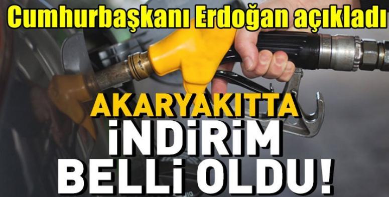 Cumhurbaşkanı Erdoğan açıkladı, Akaryatta İndirim belli oldu