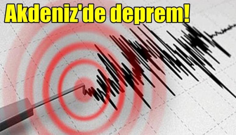 Akdeniz'de Deprem !!