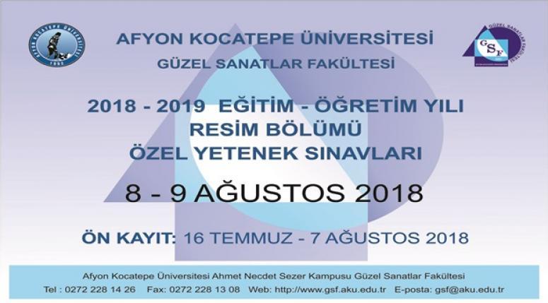 AFYON KOCATEPE ÜNİVERSİTESİ ÖĞRENCİ ALACAK