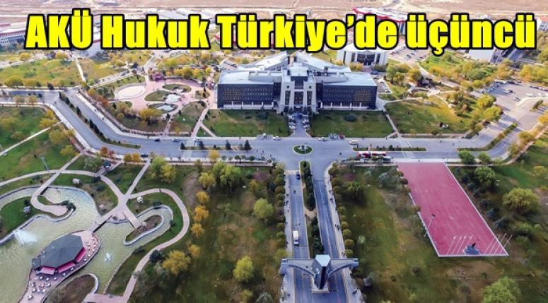 MUHTEŞEMSİN AKÜ !! Hukuk'ta Türkiye'de üçüncü !!