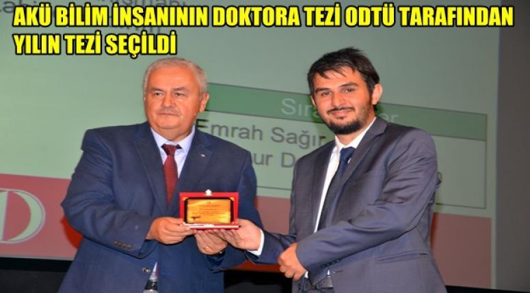 Akü'ye yılın tezi ödülü !!