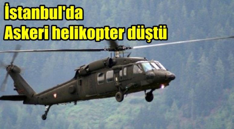 İstanbul Sancaktepe'de askeri helikopter düştü !!