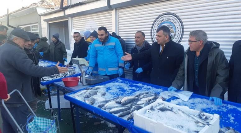 Emirdağ'da Balık tanzim satış noktası kuruldu